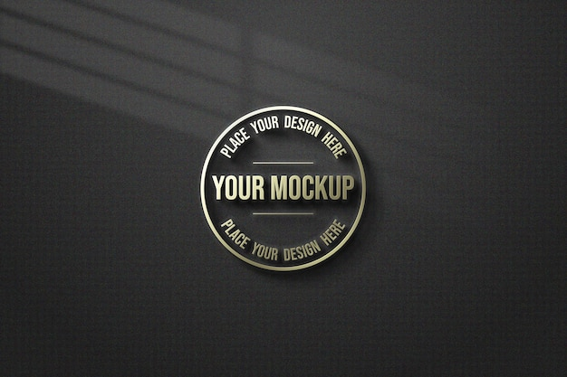 Close up on modern mockup isolated