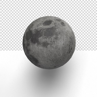 Close up on a moon in 3d rendering isolated