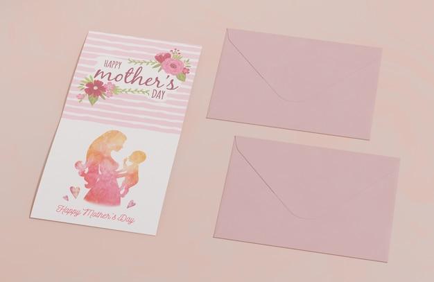 クローズアップの母の日グリーティングカード