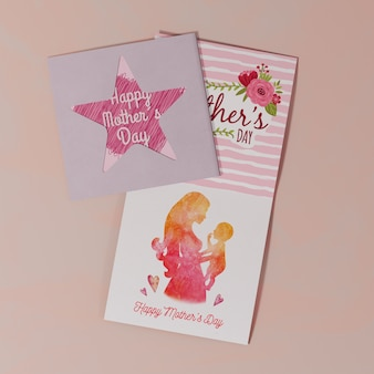 Close-up mothers day greeting card
