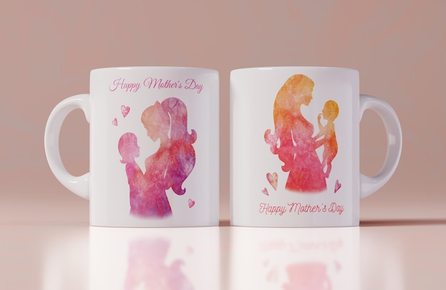 Close-up mothers day mug