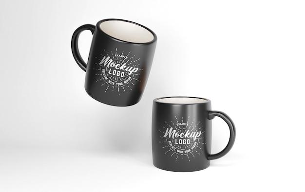 Close up on mug mockup isolated