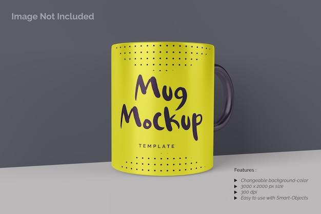 Close up on mug mockup with handle