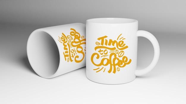 Close up on mug mockup