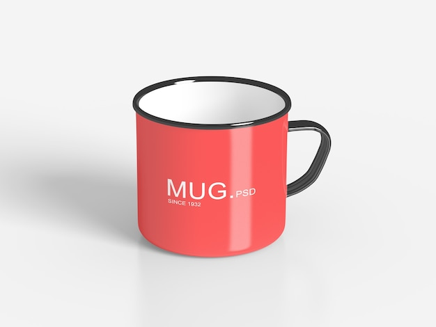 Close up on mug mockups isolated