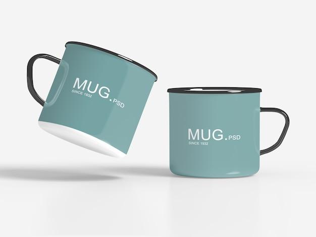 Close up on mug mockups isolated