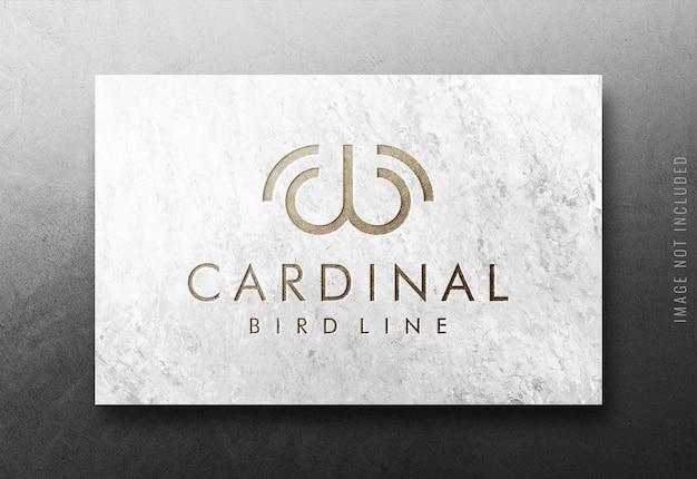 Крупным планом роскошный логотип макет
