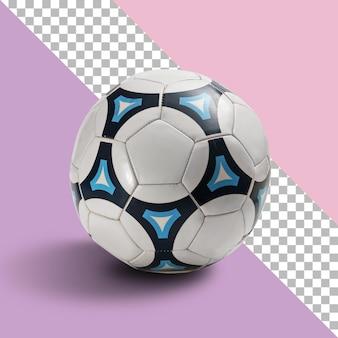 Крупный план футбольного мяча на прозрачном фоне