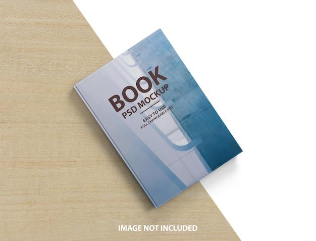 Крупным планом на 3d макет обложки книги
