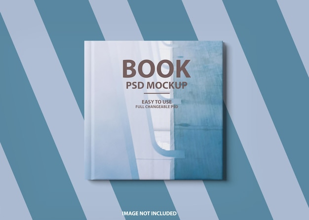Крупным планом на 3d дизайн макета книги в твердом переплете