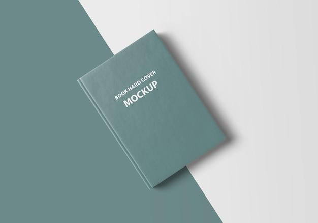 Макет 3d книги в твердой обложке крупным планом