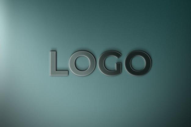 Крупным планом на 3d-макете логотипа изолированы