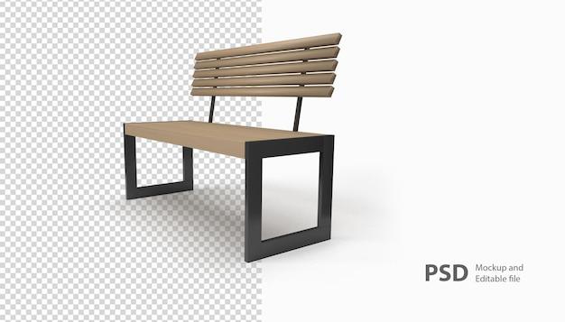 孤立したレンダリングの椅子の庭にクローズアップ