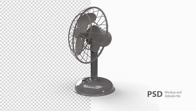 Крупным планом на вентилятор рендеринга изолированные