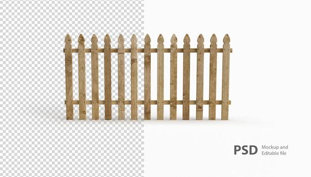 Крупным планом на деревянном заборе рендеринга изолированные