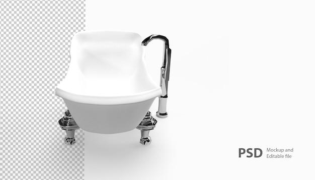 Крупным планом на изолированные ванна