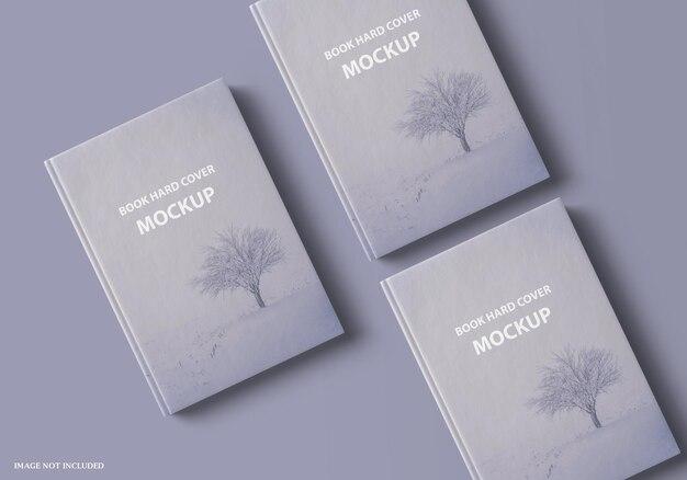 Крупным планом на дизайн макета красивой книги в твердом переплете