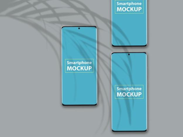 Крупным планом на красивый макет телефона
