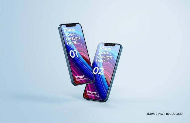 Крупным планом на красивый макет смартфона