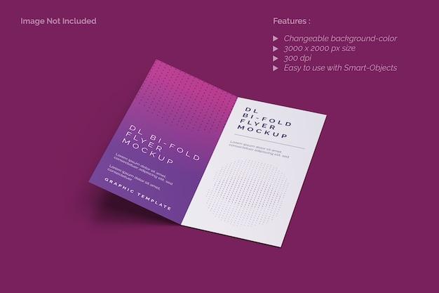 Крупным планом на двойном макете брошюры