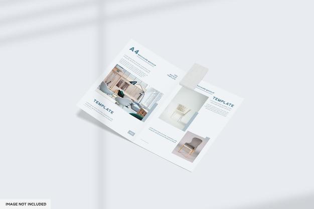Макет брошюры о двойной мебели крупным планом