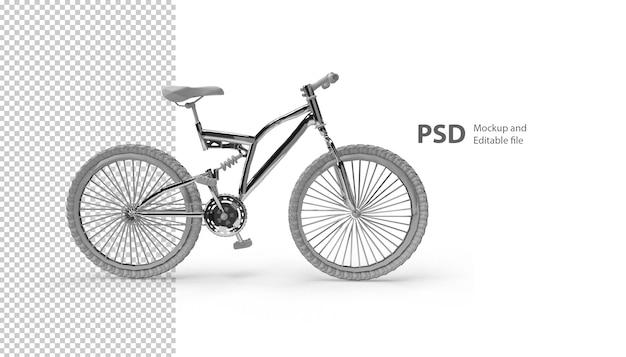 3dレンダリングで分離された自転車のクローズアップ