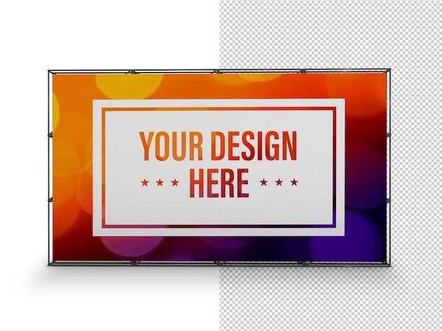 Крупным планом на изолированном макете рекламного щита