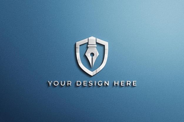Крупным планом на синем макете визитной карточки