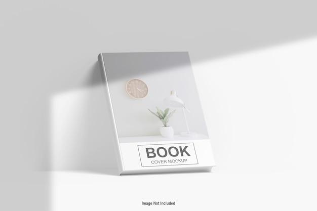 고립 된 책 표지 모형에 닫습니다
