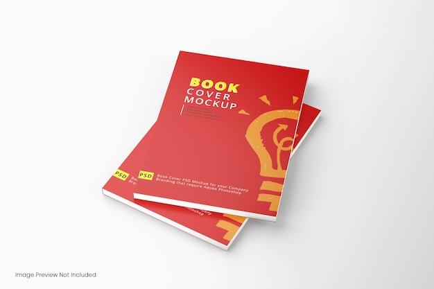 Крупным планом на изолированном макете обложки книги