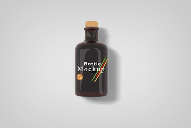 Крупным планом на изолированные макет бутылки