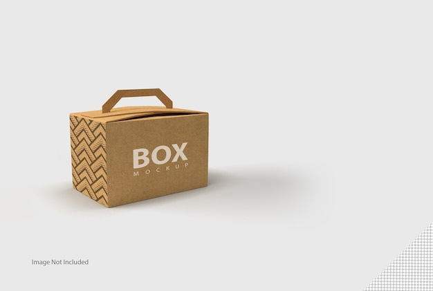 Закройте на коробке изолированные