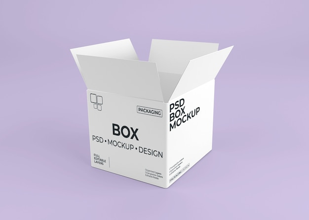 Закройте макет коробки для упаковки