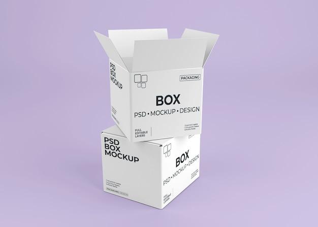포장용 상자 모형에 닫기