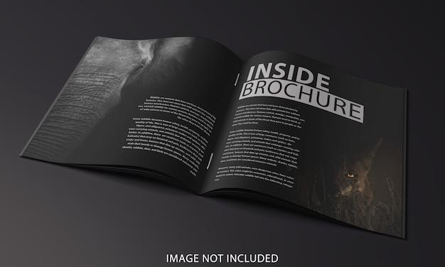 パンフレットのクローズアップページ内のモックアップデザイン
