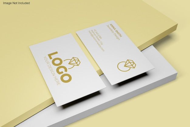 Крупным планом на изолированные макет визитной карточки