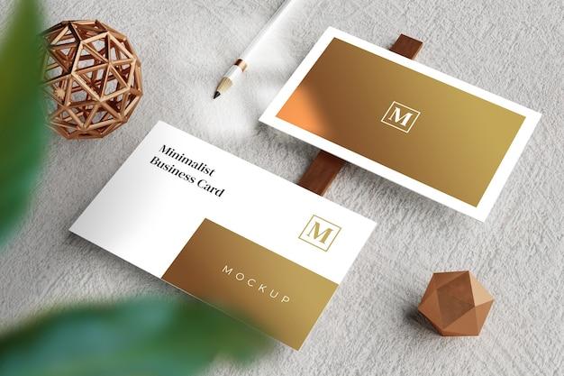 Макет визитной карточки крупным планом