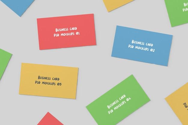Крупным планом на макете визитной карточки