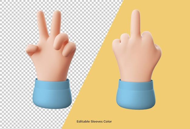 Крупным планом на значок руки мультфильм изолированные