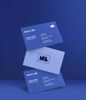 Крупным планом на макете чистой визитной карточки