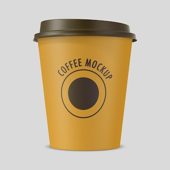 紙で作られたコーヒーカップのクローズアップ