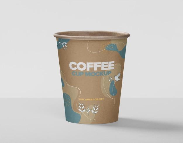 Крупным планом на дизайн макета кофейной чашки