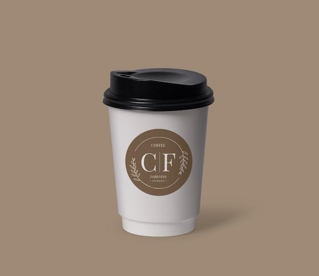 Крупным планом на макете кофейной чашки