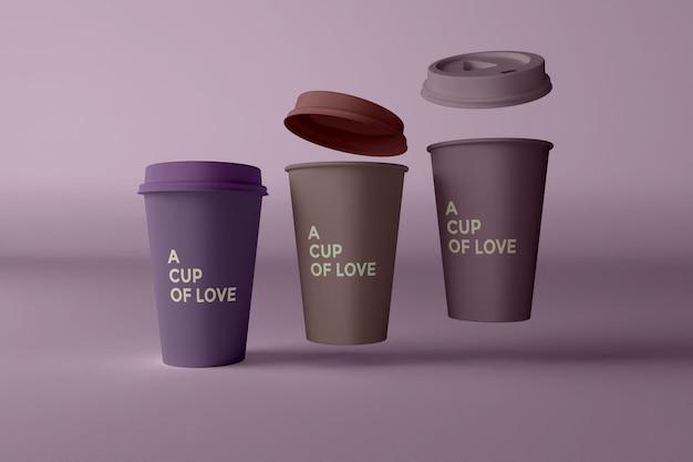 커피 컵 모형에 가까이