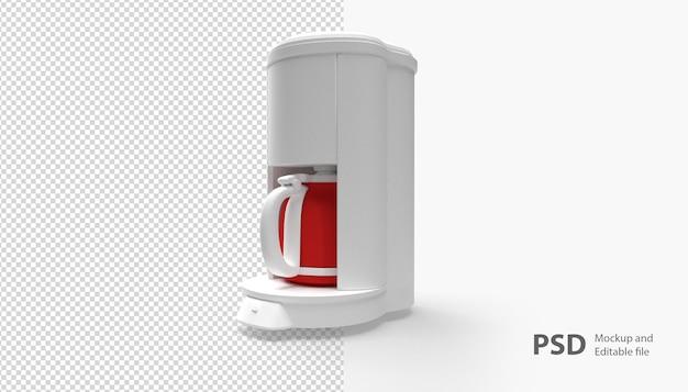 Крупным планом на изолированные кофеварка