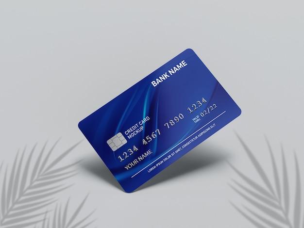 Крупным планом на макете кредитной карты