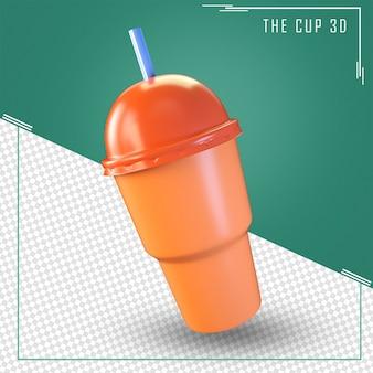 Крупным планом на чашке 3d-рендеринга изолированные