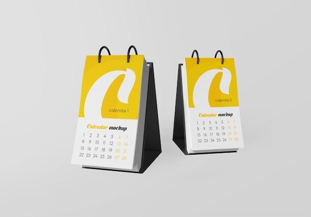 Крупным планом на настольный календарь макет изолированы