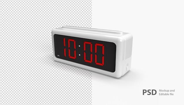 Крупным планом на изолированные цифровые часы
