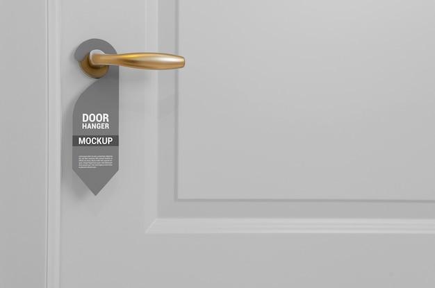 Макет дверной вешалки крупным планом
